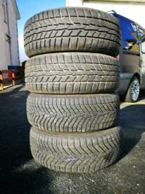 Winter tyres 205/55/16 yokohama and hankook