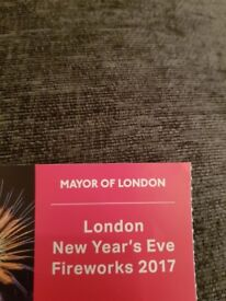 2 London NYE Fireworks 2017 Tickets - Pink Area
