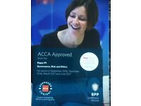 P1 ACCA Governance risk and ethics study text and exam P&R kit