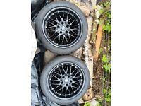 4 black alloy wheels 5 stud