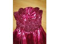 Pink sequin 80s cocktail dress