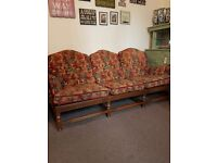 Large solid wood sofa
