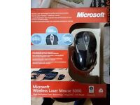 Wireless Laser Mouse - Microsoft 5000 - New still in box.