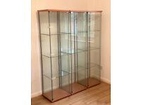 Glass Display Cabinet x3