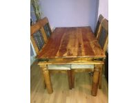 Solid wood( Sheesham) table and4 chairs