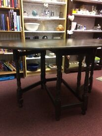 4 Winchester chairs and drop leaf table