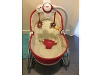 Tiny love 3 in 1 rocker napper. Exellent condition. Red colour. Come from pets and smoke free home.