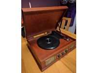 Steepletone USB Norwich - Retro Style 3-Speed Vinyl Record Player Turnable - with MP3