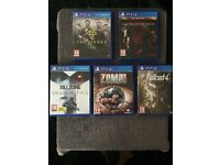 ps4 game bundle the order, killzone, zombi, fallout 4, metal gear solid 5, £30 the lot or swap