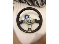 Momo steering wheel in great condition.