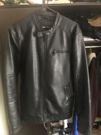 Men's Original Leather Jacket Large Size