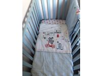 Blue cot from mothercare comes with everything bedding alone cost me 65 from next