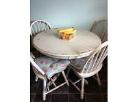 Solid table and chairs ideal for upcycling project