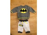 Boys baby clothes bundle Batman jumper and bottoms First Size