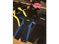 4 wetsuit's