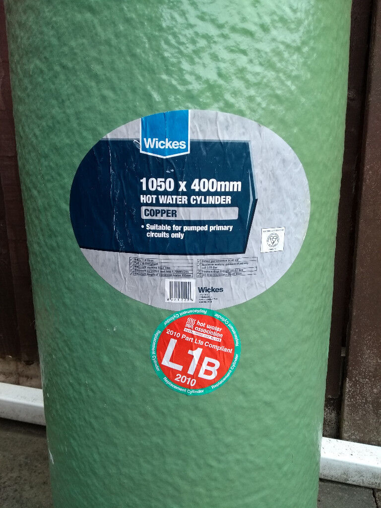 Copper hot water cylinder - 1050 x 400 mm   in Hall Green, West ...