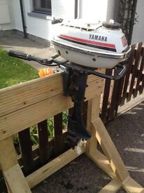 YAMAHA 3.5HP TWO STROKE AIR COOLED OUTBOARD MOTOR BOAT ENGINE