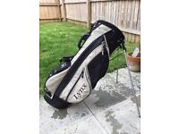 Lynx Golf bag, with double strap and stand.