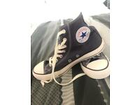 Converse navy high tops size 6