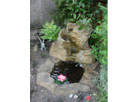 Garden pond with waterfall & new pump, fountain or ball display also