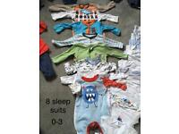 Bundle of baby boys clothes aged 0-3 months