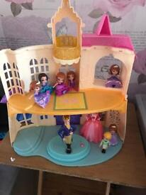 Excellent Condition Sofia The First Talking Castle set & School