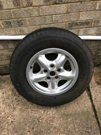 Range Rover alloy wheel and tyre