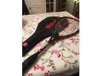 Wilson ProStaff squash racquet with ball
