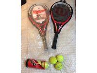 2 x Wilson Federer 110 Rackets - Size L2 & L4