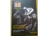 Ascot Race Programme featring FRANKEL'S Final Race signed by Sir Henry Cecil