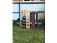 Little tykes climbing fort with slide