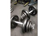 40kg dumbbell set
