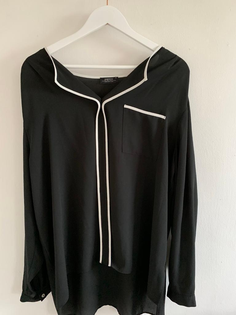 648cd9d6 Black blouse. Size 18. | in Holmfirth, West Yorkshire | Gumtree