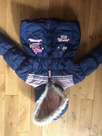 Peppa pig girls coat 3-4