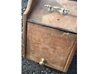 Antique Victorian coal scuttle, needs a bit of work