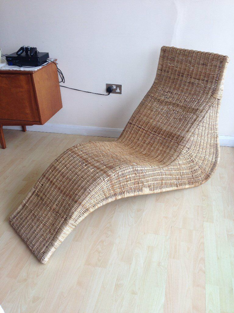 ikea rattan chaise lounger in poole dorset gumtree. Black Bedroom Furniture Sets. Home Design Ideas