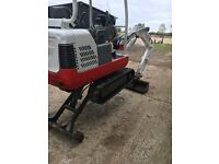 1.5 ton digger, maintained to the highest of standards very clean, 2004 TAKEUCHI