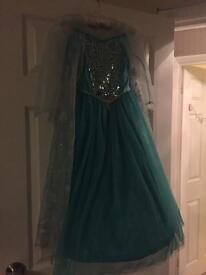 Disney Store Frozen Elsa Dress 5-6