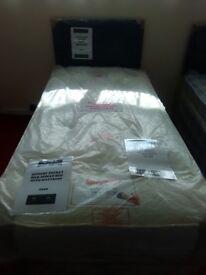 New Myer Adams Memory Pocket Silk Single Bed with Mattress.