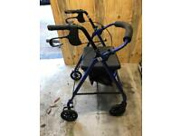 Mobility walker with seat.