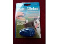 dog training clicker and training lead 10 metre