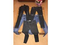 Skinny jeans, all 32 waist. Great condition.