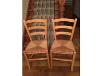 Dining wooden chairs.