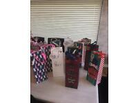 12 Luxury Christmas Bottle/Wine Gift Bags - (NEW/UNUSED)