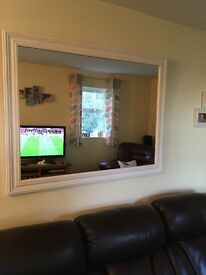 Large wall mirror , painted cream for that Shabby Chic look