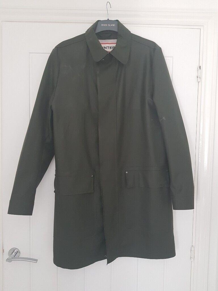 f5f99e154 Original Hunter: Men's Rubberised Leather Coat in Olive Green (size medium)