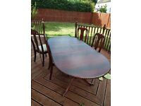 Dinning table and Chairs for sale