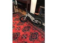 """Exceptional """"Early Rider"""" Trail Runner brushed silver balance bike for toddlers"""
