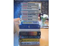 Collection of Wilbur Smith and John Grisham Books