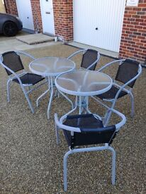 Garden patio tables and chairs